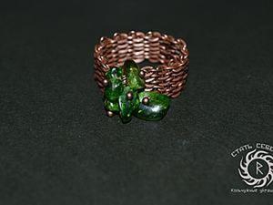 Имитация кольчужного плетения — мастерим кольцо. Ярмарка Мастеров - ручная работа, handmade.