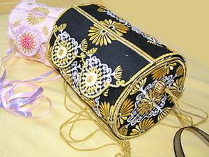 Сумка-цилиндр своими руками. Часть 1: машинная вышивка деталей сумки. Ярмарка Мастеров - ручная работа, handmade.