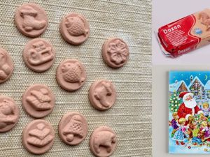 Лепим новогодние игрушки из шоколадного календаря и глины. Ярмарка Мастеров - ручная работа, handmade.