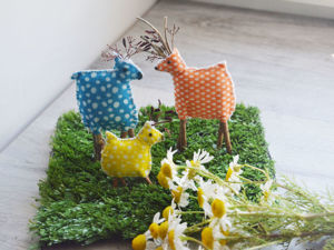 Crafts with Kids: a Family of Deer. Livemaster - handmade