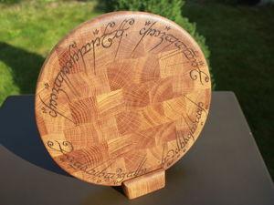 Круглая торцевая разделочная доска. Ярмарка Мастеров - ручная работа, handmade.