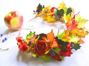 Создаем яркий венок из фоамирана «Краски осени». Ярмарка Мастеров - ручная работа, handmade.