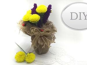 Делаем цветы из гофрированной бумаги. Ярмарка Мастеров - ручная работа, handmade.