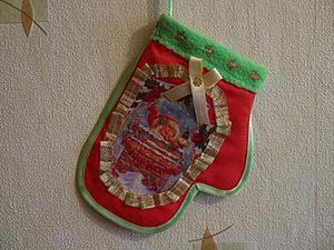 Видео мастер-класс по пошиву новогодней рукавички. Ярмарка Мастеров - ручная работа, handmade.