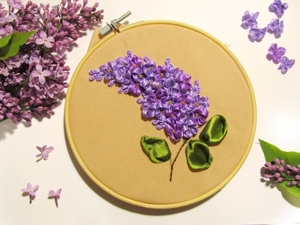 How to Embroider Lilacs of Satin Ribbons. Livemaster - handmade