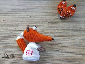 Лисичка — медсестричка. Ярмарка Мастеров - ручная работа, handmade.
