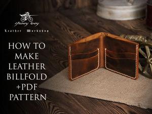 Как сделать кошелек Бифолд из кожи своими руками. Ярмарка Мастеров - ручная работа, handmade.