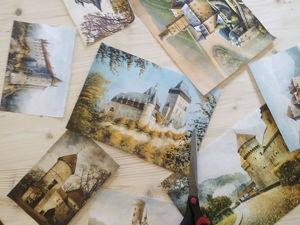 Инструкция по приклеиванию декупажных карт. Ярмарка Мастеров - ручная работа, handmade.