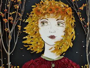 Портреты в гармонии с природой от Sister Golden: романтические образы и известные личности, сложенные из веточек и лепестков. Ярмарка Мастеров - ручная работа, handmade.