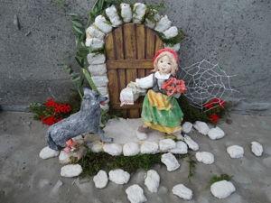Красная шапочка и серый волк. Ярмарка Мастеров - ручная работа, handmade.