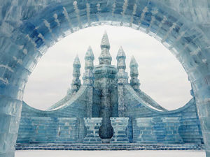 Song Of Ice And Snow: City With Life-Size Ice Palaces And Skyscrapers Built In China. Livemaster - handmade