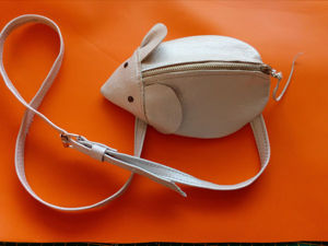 Шьем забавную сумочку-мышь из кожи для юной модницы. Ярмарка Мастеров - ручная работа, handmade.