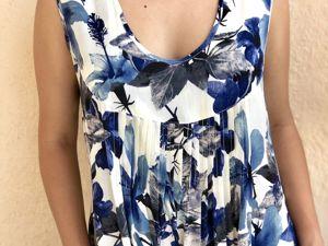 Новое платье с синими цветами. Ярмарка Мастеров - ручная работа, handmade.