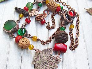 """Изготовление ожерелья """"Осень"""". Часть 3: сборка. Ярмарка Мастеров - ручная работа, handmade."""
