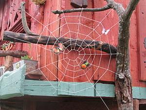 Плетём паутину для декорирования детской площадки. Ярмарка Мастеров - ручная работа, handmade.