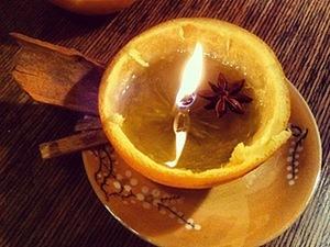 Свечка из апельсина своими руками!. Ярмарка Мастеров - ручная работа, handmade.