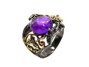 Серебряное кольцо с аметистом, размер 17,75. Ярмарка Мастеров - ручная работа, handmade.