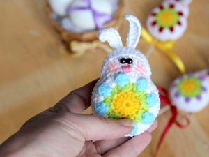 Видеоурок: вяжем пасхального зайчика. Ярмарка Мастеров - ручная работа, handmade.
