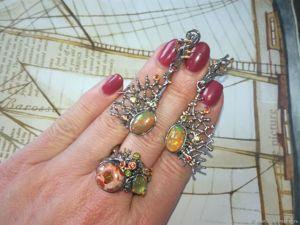 Скидка  на кольцо с болдер опалом!. Ярмарка Мастеров - ручная работа, handmade.