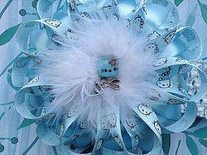 Красивая повязочка для девочки с цветком из атласных лент. Ярмарка Мастеров - ручная работа, handmade.
