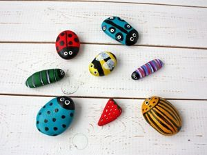 Creating Cute Bugs from Sea Vacation Pebbles. Livemaster - handmade