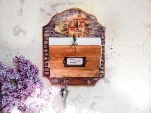 Ключница-органайзер своими руками. Функциональный декор из подручных материалов. Ярмарка Мастеров - ручная работа, handmade.