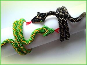 """Мастер-класс по изготовлению браслета """"Змейка"""" из бисера. Ярмарка Мастеров - ручная работа, handmade."""
