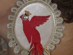 Изготавливаем серьги-пясы «Птица Гамаюн». Ярмарка Мастеров - ручная работа, handmade.