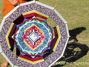 Плетеная индейская мандала, 1 метр, 12 лучей. Ярмарка Мастеров - ручная работа, handmade.