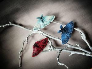 Новинки декабря прилетели! Три новых мотылька. Ярмарка Мастеров - ручная работа, handmade.