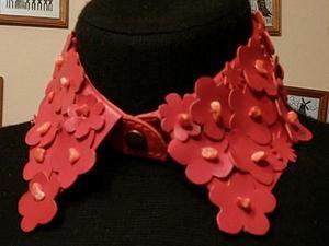 Мастер-класс: кожаный воротник с цветами. Ярмарка Мастеров - ручная работа, handmade.