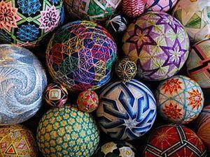 Вышитые шары «темари» от 92-летней рукодельницы. Ярмарка Мастеров - ручная работа, handmade.