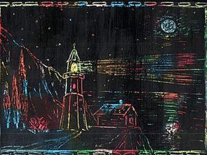 Создаем вместе с детьми картины в необычной технике «граттаж». Ярмарка Мастеров - ручная работа, handmade.