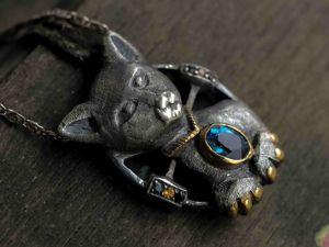 Короткая история серебряного кота. Ярмарка Мастеров - ручная работа, handmade.