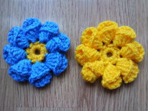 Вяжем объемный цветок. Ярмарка Мастеров - ручная работа, handmade.