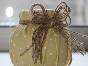 Превращаем баночку в симпатичную вазочку. Ярмарка Мастеров - ручная работа, handmade.