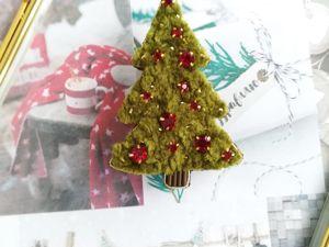 Видео новогоднего украшения броши Елочки. Ярмарка Мастеров - ручная работа, handmade.