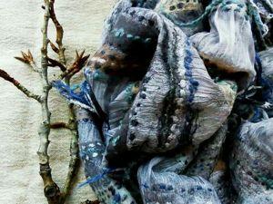 Новая работа — Шарф Серебро. Ярмарка Мастеров - ручная работа, handmade.
