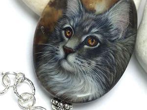 Моцарт – шикарный кот, написанный  в технике лаковая миниатюра. Ярмарка Мастеров - ручная работа, handmade.