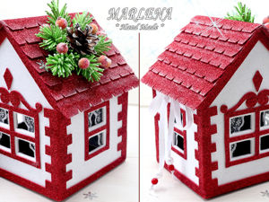 Оригинальный подарок: домик из картона и фоамирана. Ярмарка Мастеров - ручная работа, handmade.