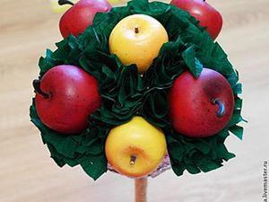 Топиарий из яблок и гофробумаги. Подробный мастер-класс. Ярмарка Мастеров - ручная работа, handmade.