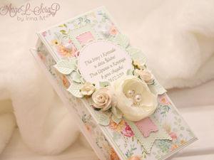 Салатовая коробочка для денег на свадьбу. Ярмарка Мастеров - ручная работа, handmade.