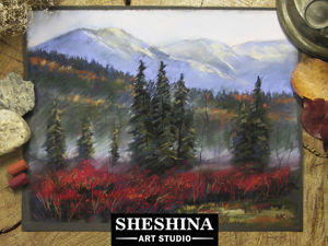 Видеоурок: рисуем осенний пейзаж с туманом сухой пастелью. Ярмарка Мастеров - ручная работа, handmade.