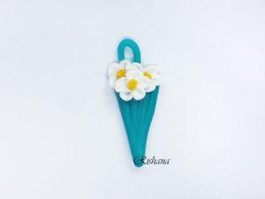 Видео мастер-класс: лепим из полимерной глины цветочный зонтик. Ярмарка Мастеров - ручная работа, handmade.