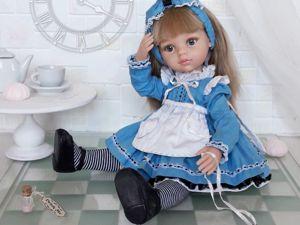 Шьем наряд для куклы Алисы. Часть 1. Ярмарка Мастеров - ручная работа, handmade.