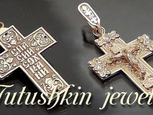Православный крест из золота с бриллиантами лимитированная серия. Ярмарка Мастеров - ручная работа, handmade.