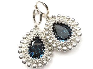 Creating ''Diana'' Earrings from Beads and Crystals. Livemaster - handmade