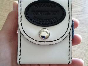 Кожаный портсигар белый с чёрным. Ярмарка Мастеров - ручная работа, handmade.