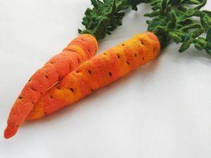 Валяем морковь — детскую или новогоднюю игрушку. Ярмарка Мастеров - ручная работа, handmade.