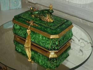 Малахитовая шкатулка №1. Ярмарка Мастеров - ручная работа, handmade.